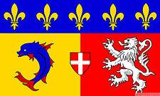 Rhone Alpes 5x3 feet FLAG 150cm x 90cm Polyester fabric flags lyon france french