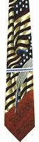 Men's Patriotic Necktie Constitution Americana Series Silk Flag Tango Neck Tie