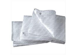 Telo Telone Tenda Occhiellato Retinato Pvc Bianco Trasparente 4x6 mt esterno
