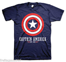 CAPTAIN AMERICA Est. 1941 MARVEL   T-Shirt  camiseta cotton officially licensed