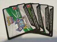 10 x Pokemon Rebel Clash Sword & Shield Online Booster Code Cards.
