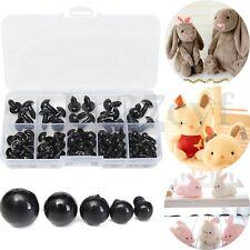 100pcs 6-12mm Black Plastic Safety Eyes For Teddy Bear Doll DIY Animal Crafts