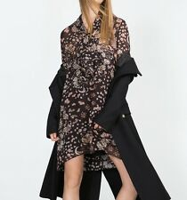 NWT ZARA PRINTED DRESS DARK BROWN SIZE SMALL SOLD OUT