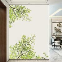 Green Tree Branch Balcony Glass Removable Wall Sticker PVC Decal DIY Home Decor