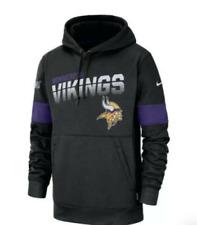 New Minnesota Vikings NFL Men/'s Iconic Helmet Graphic Crew Sweatshirt Grey
