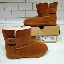 UGG Keelan Boot Toddlers Size 10 10C 1096089T Chestnut Brown Suede Shearling