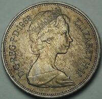 1968 Great Britain Ten New Pence BU GORGEOUS DEEP COLOR TONED GEM UNC (SS)
