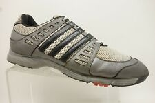 Adidas Gray Leather Mesh Lace Up Athletic Golf Sneakers Shoes Men's 11.5