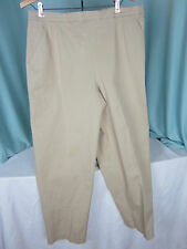 Breckenridge Pants Slacks 16 Regular Beige Khaki Pull on Cotton Blend NWOT