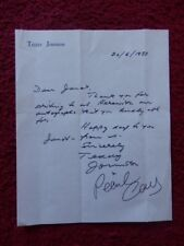 PEARL CARR AND TEDDY JOHNSON - SINGERS  - AUTOGRAPHED LETTER