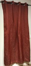 Red Silver Grommet Top Curtain with Geometric Design 54 x 86