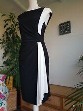 RALPH LAUREN BLACK & WHITE RUCHED STRETCH DRESS SIZE 8