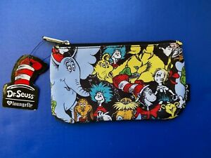 Loungefly Dr. Seuss Zip Pouch Character Print, Cosmetic/Coin Bag/Case New!
