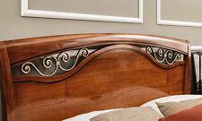 Luxus Bett Fregi 160 cm Ducale Kirschbaum Furnier Holz Stilvoll  aus Italien