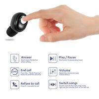 Mini Bluetooth 5.0 Headset Wireless Earpiece Headphone Stereo Earbuds Handsfree