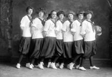 "1912 Madiera School Girl's Basketball Team Vintage Photograph 13"" x 19"" Reprint"