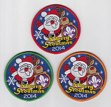 2014 UNITED KINGDOM / BRITISH SCOUTS - UK MERRY CHRISTMAS SCOUT SOUVENIR BADGE