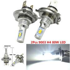 1 Pair 80W 4000LM H4 6000K Clear White LED Light For Car Headlight Lamp Bulb