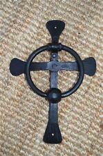 Hand wrought iron Celtic cross door knocker ancient church doorknocker