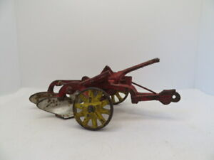 Antique Arcade McCormick Deering Two Bottom Plow Cast Iron Toy