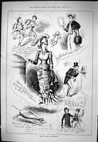 Old Sporting Dramatic News 1884 Valentine Opening Parliament Sketches Victorian