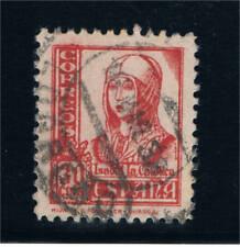 España. 30 cts Isabel la Católica usado pie de imprenta a la Izquierda