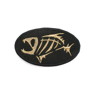 New Fishing G Logo Round Patch Emblem Clothes Cap Badge 8cm #J1