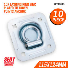 10pcs Lashing Ring Zinc Plated Tie Down Points Anchor UTE Trailer 115 X 124mm