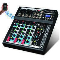 4 Channel Professional Audio Mixer Sound Board Console System Interface