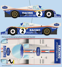 1983 Stefan Bellof Nurburgring track record 956 1/24 scale water transfer decals