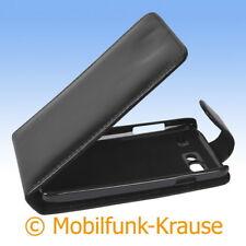 Flip Case Etui Handytasche Tasche Hülle f. Samsung Galaxy S Advance (Schwarz)