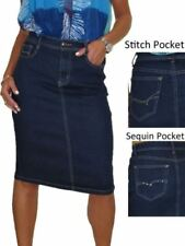 Unbranded Denim Machine Washable Regular Size Skirts for Women