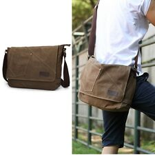 Men's Canvas Messenger Shoulderbag Laptop Bag Satchel Large Schoolbag Tote ##