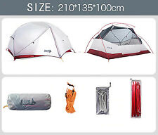 BSWolf Camping Ultralight Tent 2 Persons3 Season 20D Nylon Fabric Double Layer W