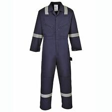Portwest Iona Coverall Reflective Knee Pad Pocket Two Way Front Zip Overall F813