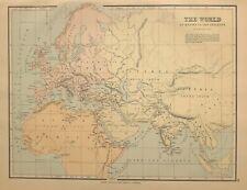 c1910 MAP THE WORLD KNOWN BY ANCIENTS EUROPA LIBYA BRITANNIA HISPANIA ILLYRICUM