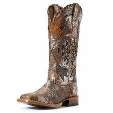 Womens Ariat Arroyo Brushed Sliver Wide Sq Toe Boot 10031431