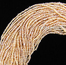 """New Natural 4-5MM Pink Freshwater Pearl Rondelle Loose Beads 15"""" strand AAA"""