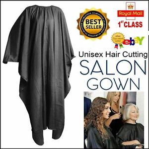 Grey Adult Hairdressing Cape Apron Gown Barber Shave Hairdressing Cutting Salon.