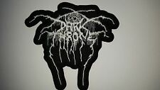 DARKTHRONE  WHITE SHAPED  LOGO  EMBROIDERED  PATCH