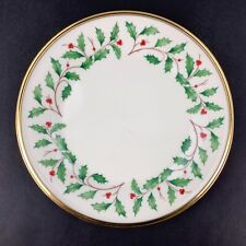 """New ListingLenox Holiday One 8 1/8"""" Salad Plate Dimension Collection Holly Berry"""