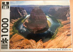 1000 Piece Puzzle Box Jigsaw Puzzle - Horseshoe Bend, Arizona, USA