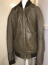 Men's All Saints Leather Bomber Jacket Xs