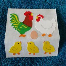 Sandylion Vintage Sticker Rooster Hen and baby chicks🐤