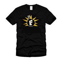 Droping The  F Bomb - Funny Cool Modern Black T-Shirt