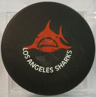 WHA LOS ANGELES SHARKS RED LOGO HOCKEY OFFICIAL GAME PUCK OLD SLUG  CANADA /HOLE