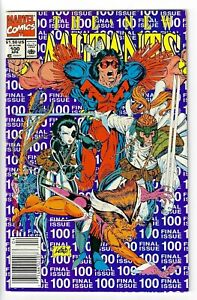 The New Mutants #100 (VF) Marvel comics Last issue 1st X-Force Newsstand Variant