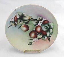 "Antique D & Co France Limoges Hand Painted Porcelain Plate Cherries, Blossoms 9"""