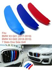 NEW M POWER LOGO KIDNEY GRILL 3D 3 COLOUR COVER ABS STRIPS BMW X3 G01 X4 G02
