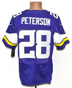NFL MINNESOTA VIKINGS AMERICAN FOOTBALL SHIRT BNWT NIKE SIZE M 40 #28 PETERSON